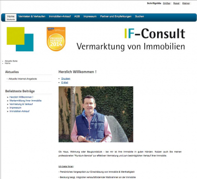 Homepage IF-Consult Immobilienmarkler